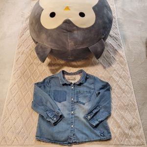 Zara baby light denim shirt